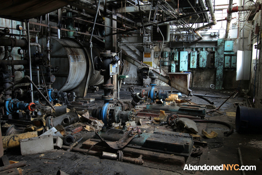 Factory Interior Domino Sugar Refinery Abandonednyc