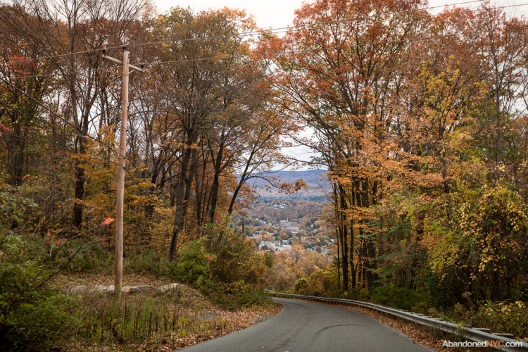 The town of North Adams appears from a hillside en route from Mt. Greylock.