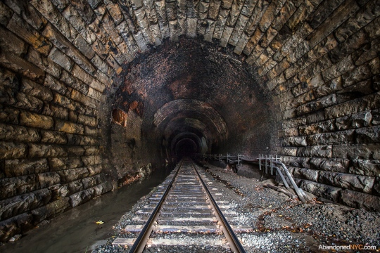 Like looking down a long pit, lightless tunnel.