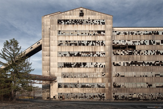 The daunting exterior of the St. Nicholas Coal Breaker.