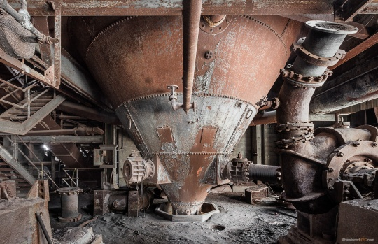 "Gigantic ""Hoppers"" funnel coal through various industrial processes."