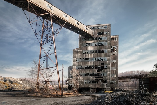 The remains of the St. Nicholas Coal Breaker.