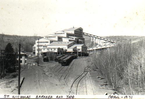 The St. Nicholas Coal Breaker in Mahanoy City, PA