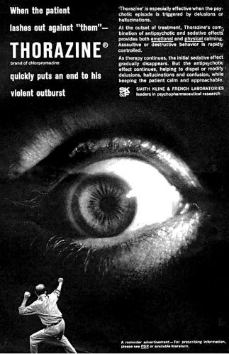 A 1960s advertisement for antipsychotic medication.