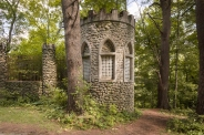 A tower in the garden led downstairs to an underground chamber.