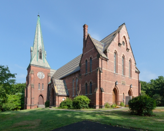 The Church was rebuilt in 1959 after a fire.
