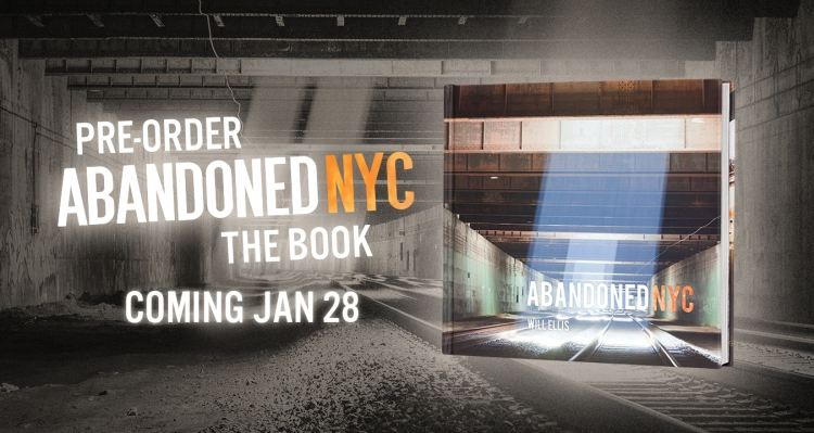 Abandoned NYC, the book, is now available to pre-order!