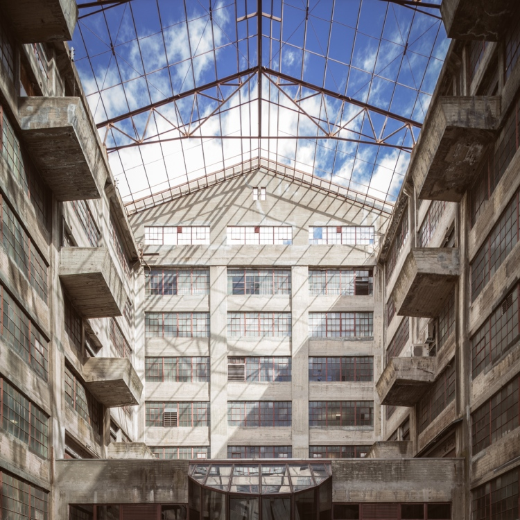 The Brooklyn Army Terminal Atrium.