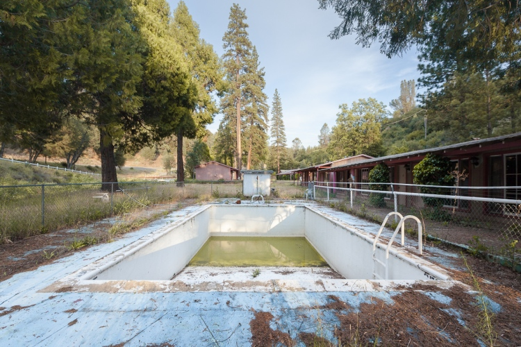 Abandoned motel near Yosemite National Park.