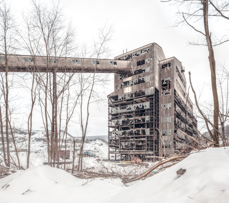 The St. Nicholas Coal Breaker, mid-demolition