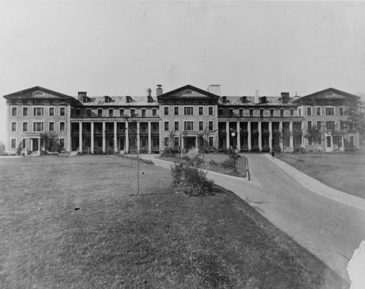 The hospital as it appeared in the 1887.